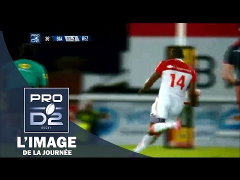 PRO D2 - L'essai de Ngwenya (BO) face à Béziers - Saison 2015-2016
