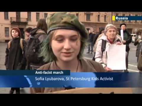 March Against Russian Fascism: Protesters slam attacks on Russia's sexual and ethnic minorities