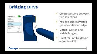 Surfaces and Curves in Onshape | Webinar (July 17th, 2018)