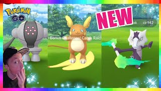 CATCHING REGISTEEL, ALOLAN RAICHU & ALOLAN MAROWAK in Pokemon Go!