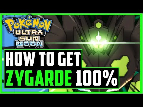how to get zygarde 100 form in pokemon ultra sun and ultra moon