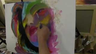 Портрет маслом, мастихиновая живопись, школа живописи в Москве