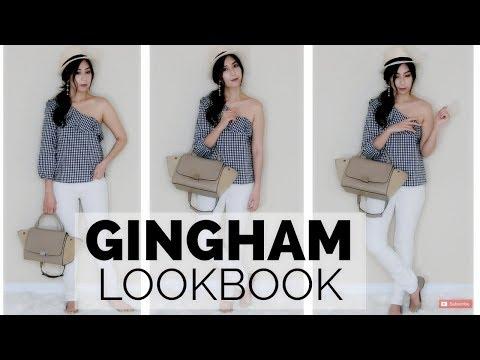 Gingham One Shoulder