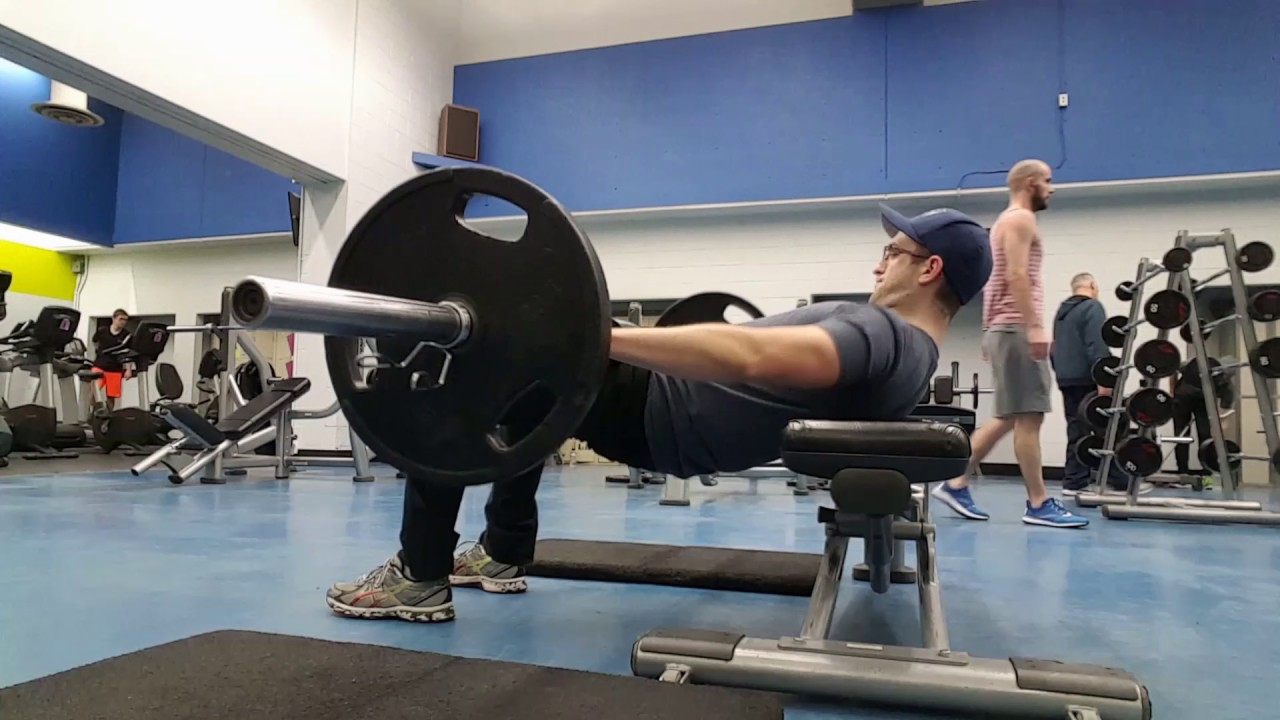 Barbell Glute Bridge From Bench Youtube