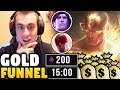GOLD FUNNEL LEE SIN STRATEGY | SOLO CARRY WITH 20 MINUTE FULL BUILD LEE SIN - League of Legends