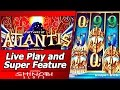Fortunes of Atlantis Slot - Live Play and Free Spins Big Win in Super Feature Bonus