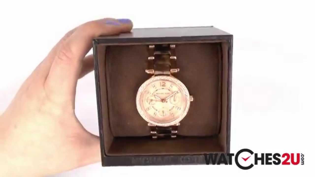 a99b7f76f67b MK5841 Michael Kors Ladies Parker Tortoise Rose Gold Watch - YouTube