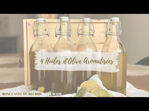 ❥  4 recettes d'huiles d'olive aromatisées ╳ beurre au sel rose d'Himalaya homemade