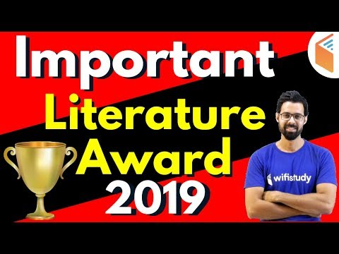 Important Literature Award 2019 | For All Competitive Exams by Bhunesh Sir