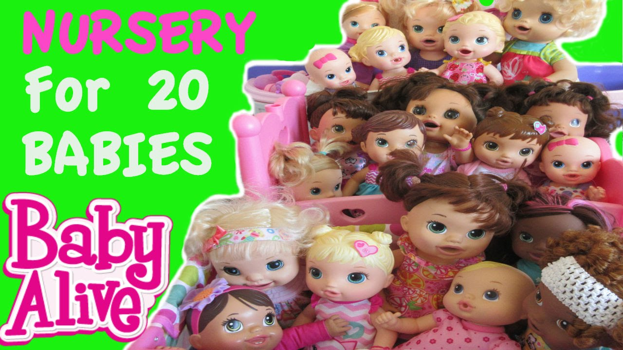 Baby Alive Nursery Tour For 20 Baby Alive Babies Youtube