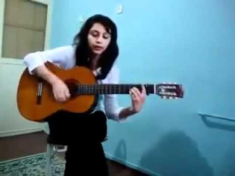 Persian gold language- Tajik girl sing a song.flv