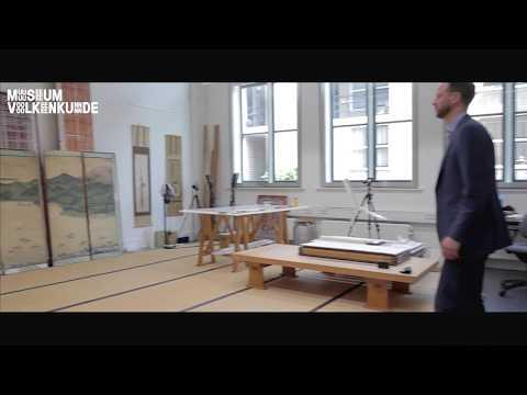 Japans topstuk ontdekt van kunstenaar Kawahara Keiga - kamerscherm