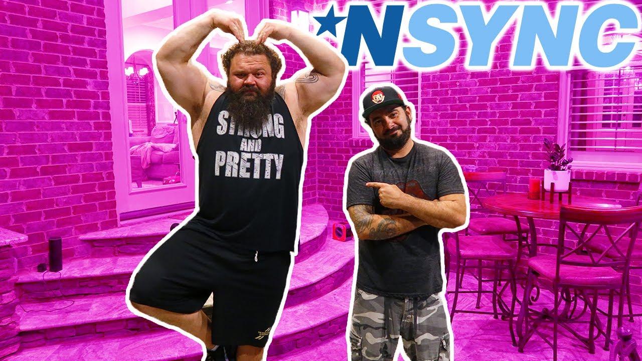 NSYNC Teaches Strongman Some Dance Moves!