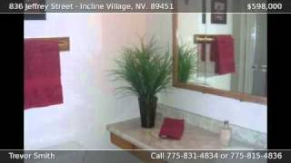 836 Jeffrey Street Incline Village NV 89451
