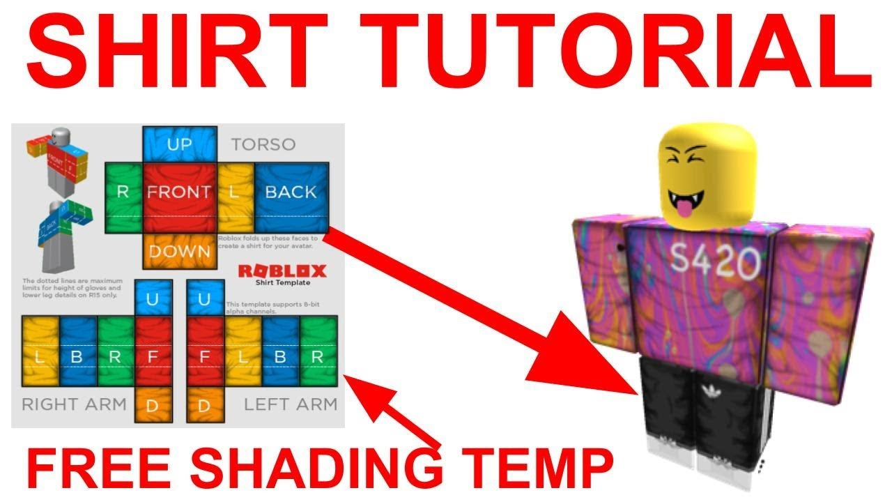 HOW TO MAKE ROBLOX CLOTHING 2019 (SHADING TEMPLATE)