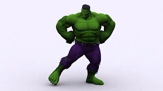 Hulk dancing green screen
