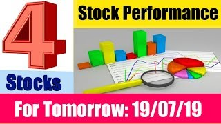 4 Stocks For tomorrow (19 July 2019) | Intraday stock tips