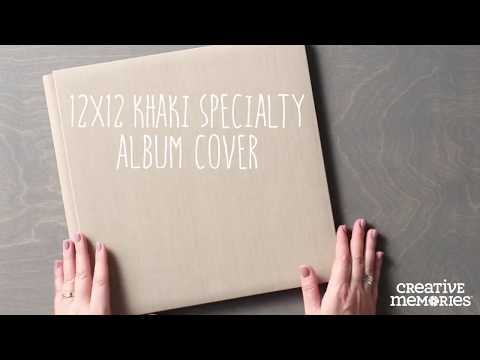 12x12 Khaki Specialty Album Cover | Creative Memories Australia