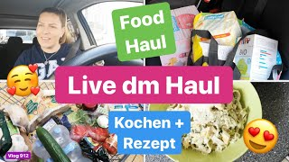XL LIVE DM HAUL l Aldi & Lidl Einkauf l Beauty l Kochen & Rezept l Vlog 912