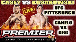 🔴 UFC PITTSBURGH / CANELO VS GGG / PREMIER FC 24 CASEY VS KOSAKOWSKI thumbnail