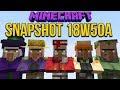 Minecraft 1.14 Snapshot 18w50a Seven New