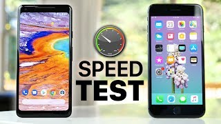 Ultimate Speed Test of Google Pixel 2 XL vs iPhone 8 Plus! Just How...