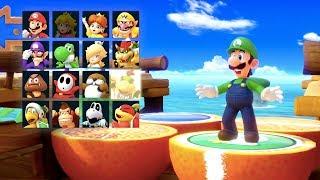Super Mario Party - Megafruit Paradise (Luigi, Koopa Troopa, Boo & Diddy Kong) | MarioGamers