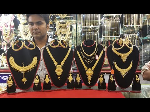 21 & 22 carret gold full  jewellery set with price