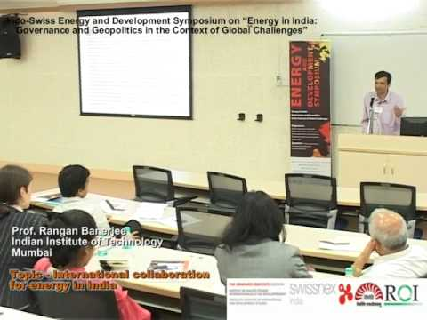 International Collaboration for Energy in India by Prof  Rangan
