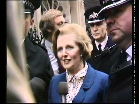 Margaret Thatcher Arrives At Downing Street (1979) - YouTube
