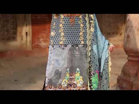 Smile by Azam arts Swiss Lawn collection 2018