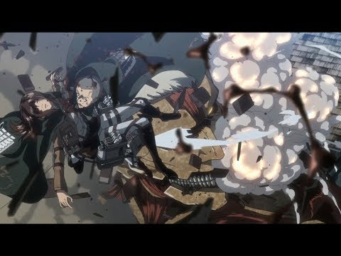 The Defeat of Armored Titan   Sasha ... [Attack on Titan S3  Ep 17]
