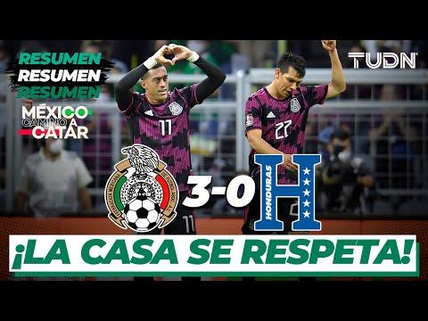 Resumen y goles | México 3-0 Honduras | Eliminatoria Catar 2021 | TUDN