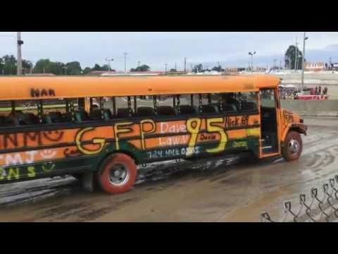 School Bus Demolition Derby - 2016 - Big Butler Fair - Feature video