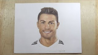 Ronaldo - Cristiano Ronaldo Drawing with Pencil - How to Draw Realistic Face Easy Step by Step