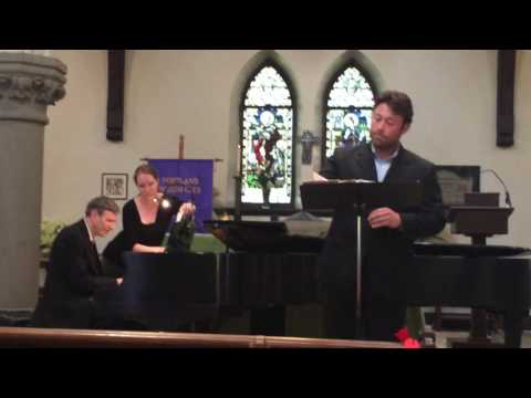 Joshua Miller, Songs of Travel by Ralph Vaughan Williams 5-22-16