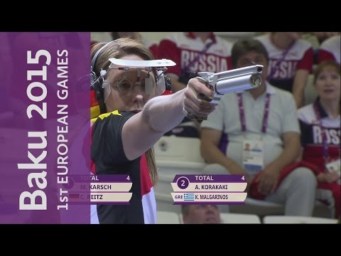 Mixed 10m Air Pistol Gold Medal | Shooting | Baku 2015 European Games