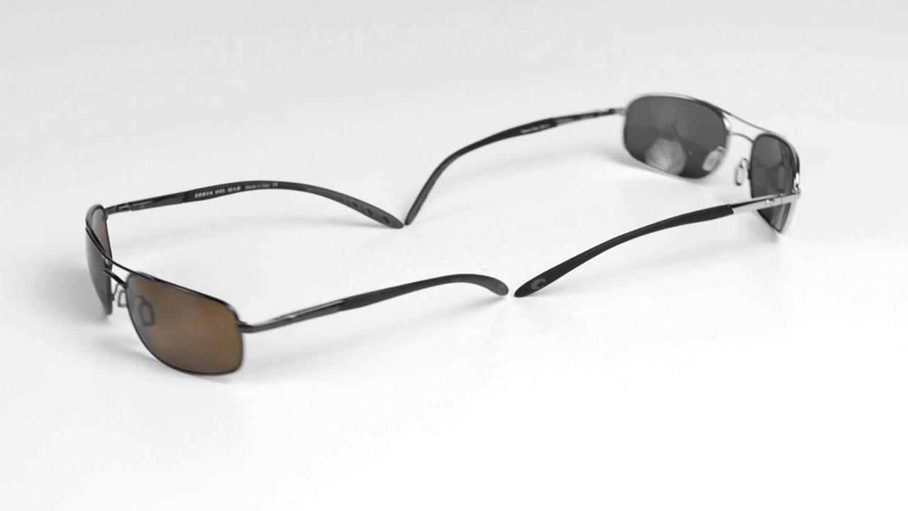 19ce95ee46 Costa Del Mar Seven Mile Sunglasses - Polarized CR-39® Lenses - YouTube