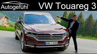 VW Touareg 3 FULL REVIEW driving 2019 Volkswagen Touareg III - Autogefühl