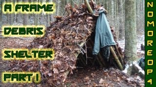 How To Build An A-frame Debris Shelter Pt. 1