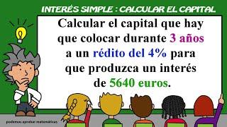 Interés Simple: calcular el capital