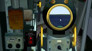 Destroyer Command gameplay - map, movement, gun salvo and torpedo attack