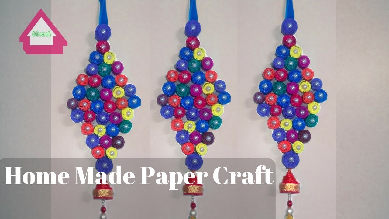 Craft Design From Home For Wall Hanging Homemade Paper Craft Ideas