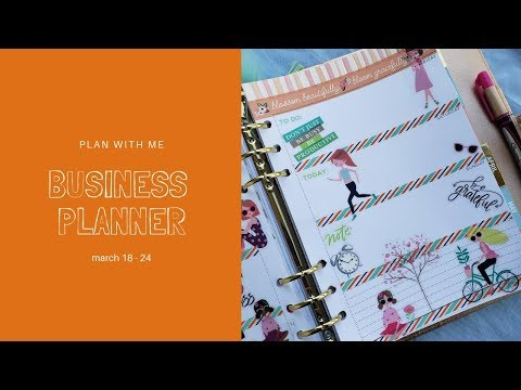 Plan With Me// Business Planner - March 18 - 24 thumbnail