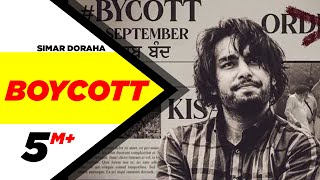 Boycott (Official Video) | Simar Doraha | Black Virus | Latest Punjabi Songs 2020 | Speed Records