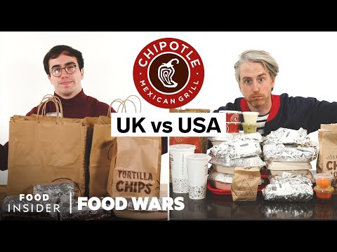 US vs UK Chipotle | Food Wars