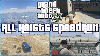 GTA All Heists Speedrun [4:22:02] Former World Record - All Four Views!