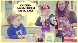 Chicken & Mushroom Pasta Bake!  SacconeJolys
