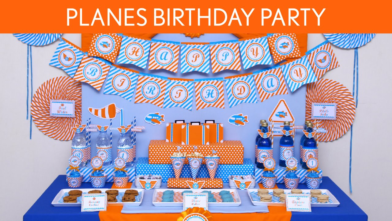 Planes Birthday Party Ideas Planes B126 YouTube