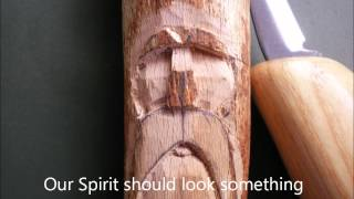 a photo essay on how to carve a simple wood spirit using only a knife. There are many ways to do this. This is just the way I do it and